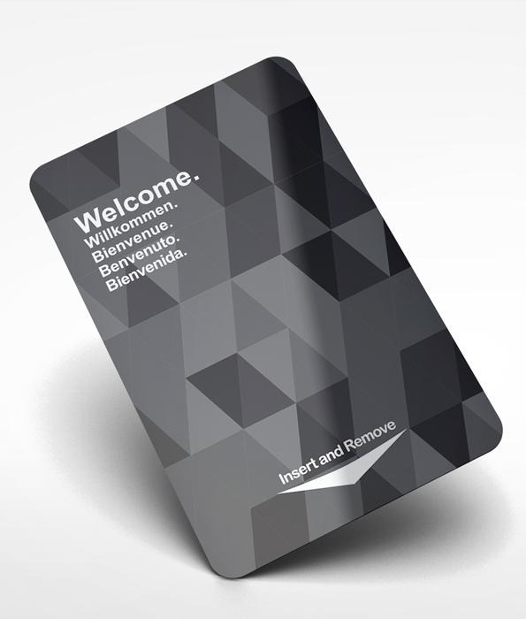 Plastic Card Bureau Hotel Key Cards Pre Designed Multi